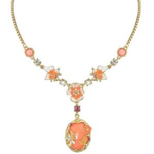 Jewelry - Sparkle orange yellow and gold flower necklace